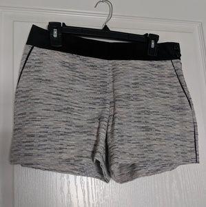 Loft striped grey shorts, black waistband - 2
